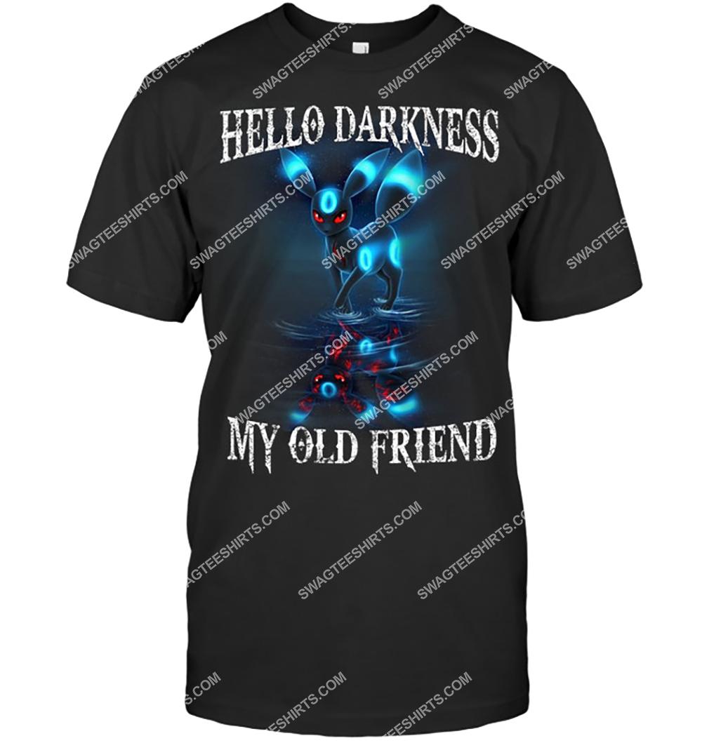 hello darkness my old friend eevee pokemon shirt 3(1)