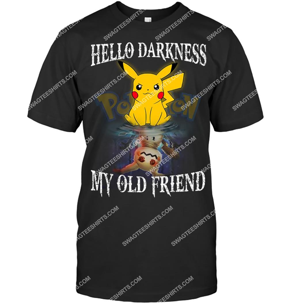 hello darkness my old friend pikachu pokemon tshirt 1 - Copy (2)