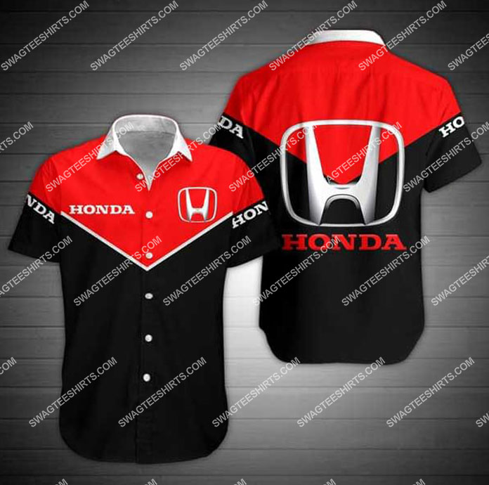 honda symbol all over print hawaiian shirt 1 - Copy
