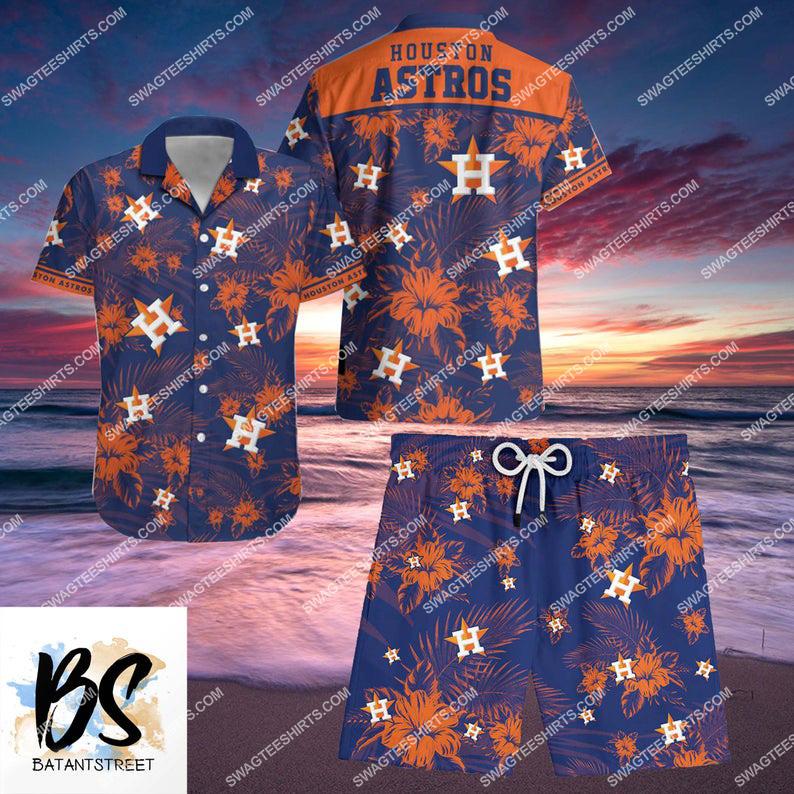 houston astros major league baseball full printing shorts 1