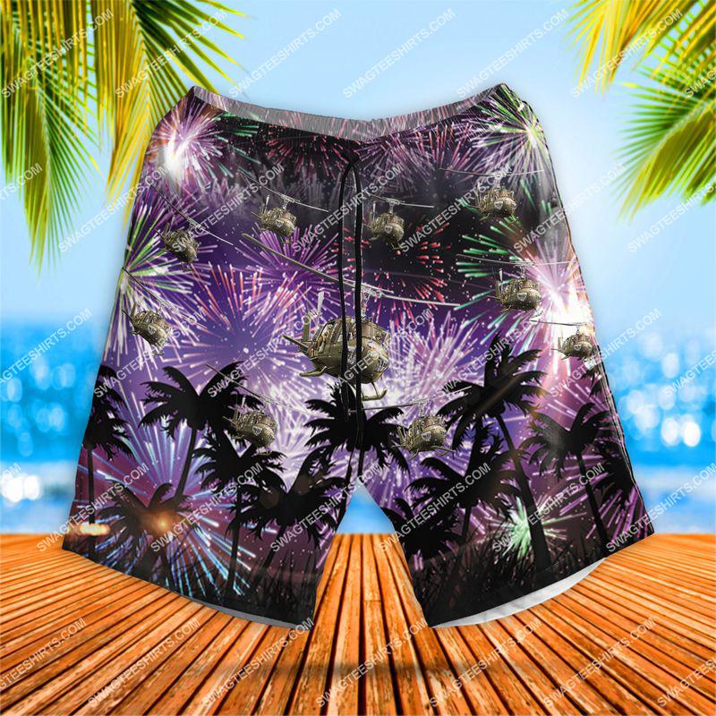 huey 4th of july all over print hawaiian shorts 1