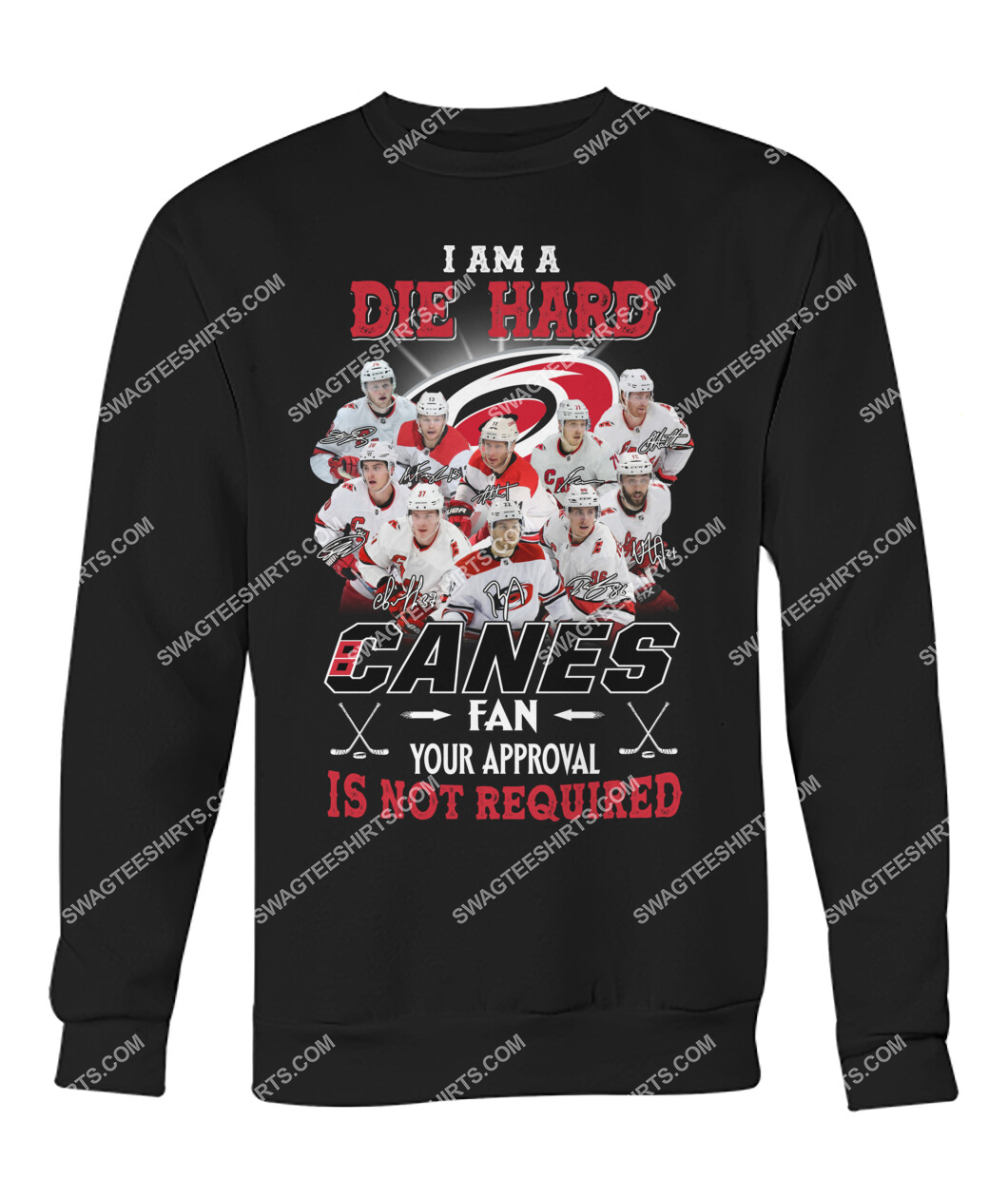 i am die hard fan your approval is not required carolina hurricanes sweatshirt 1