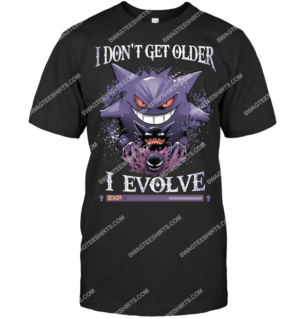 i don't get older i evolve ghost pokemon shirt 4(1)