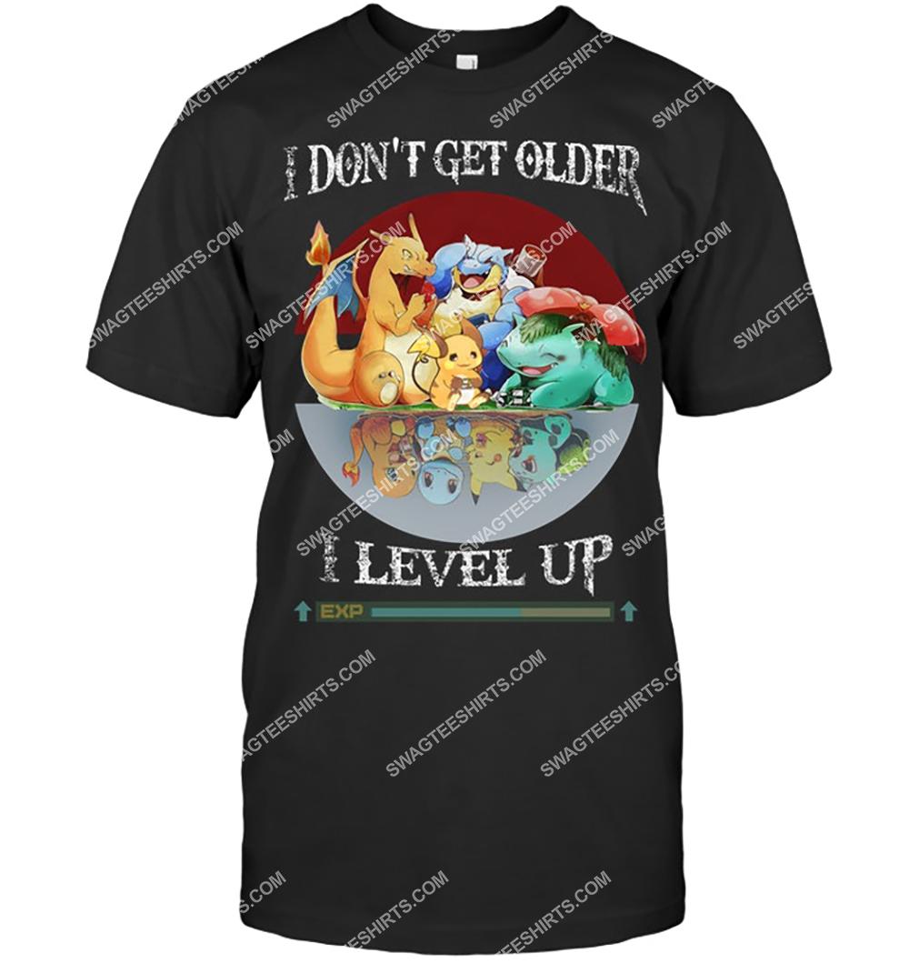 i dont get older i level up evolution pokemon shirt 4(1)