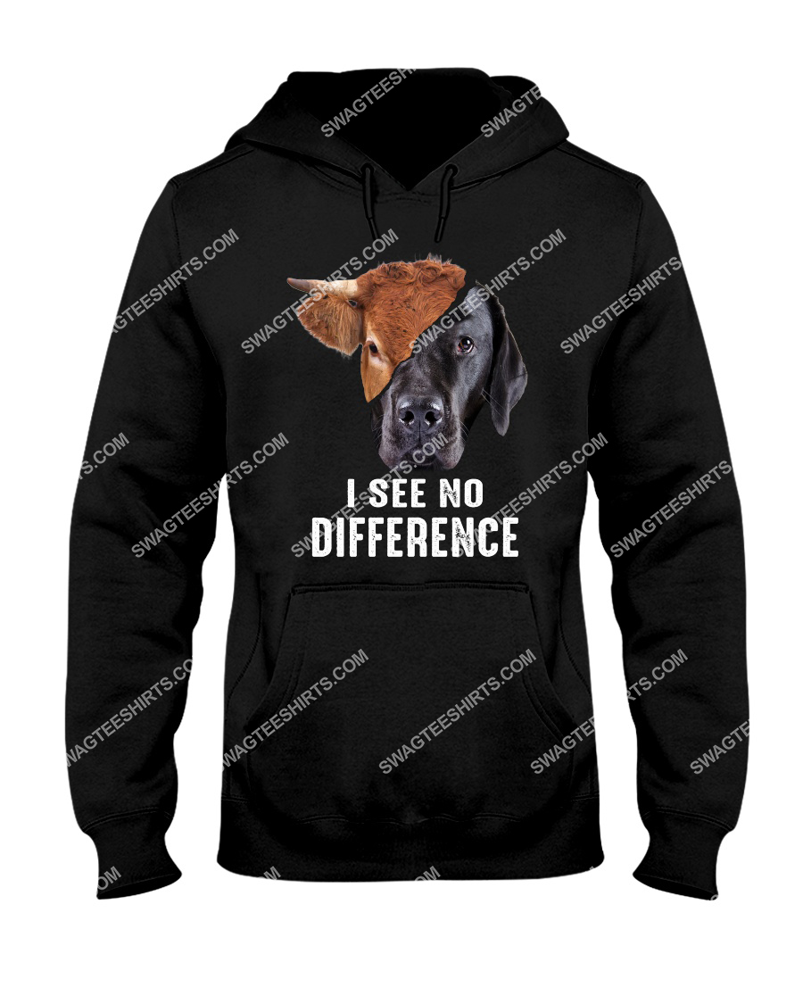 i see no difference cow and dog save animals hoodie 1