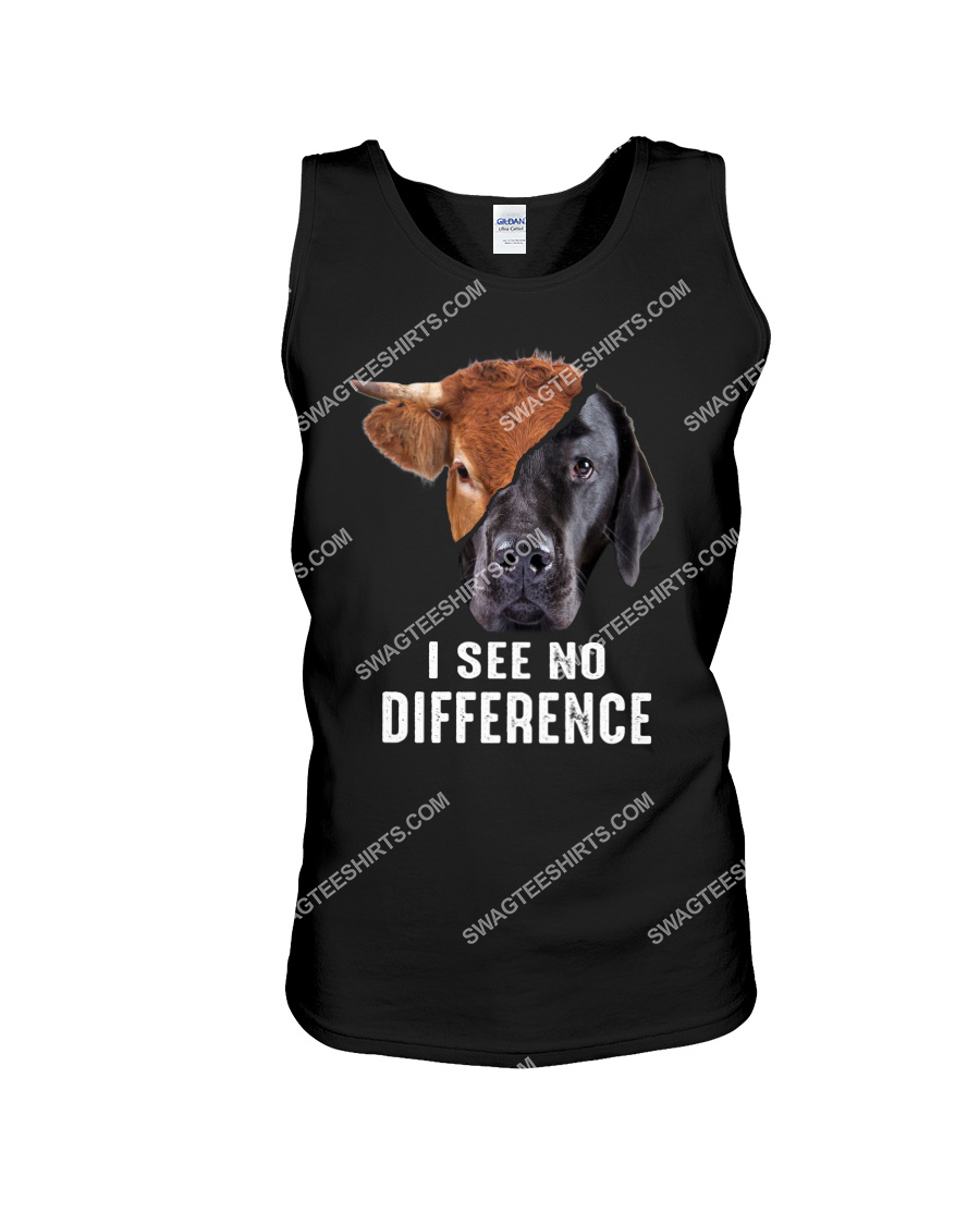 i see no difference cow and dog save animals tank top 1