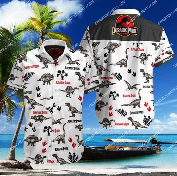jurassic park movie all over print hawaiian shirt 1 - Copy