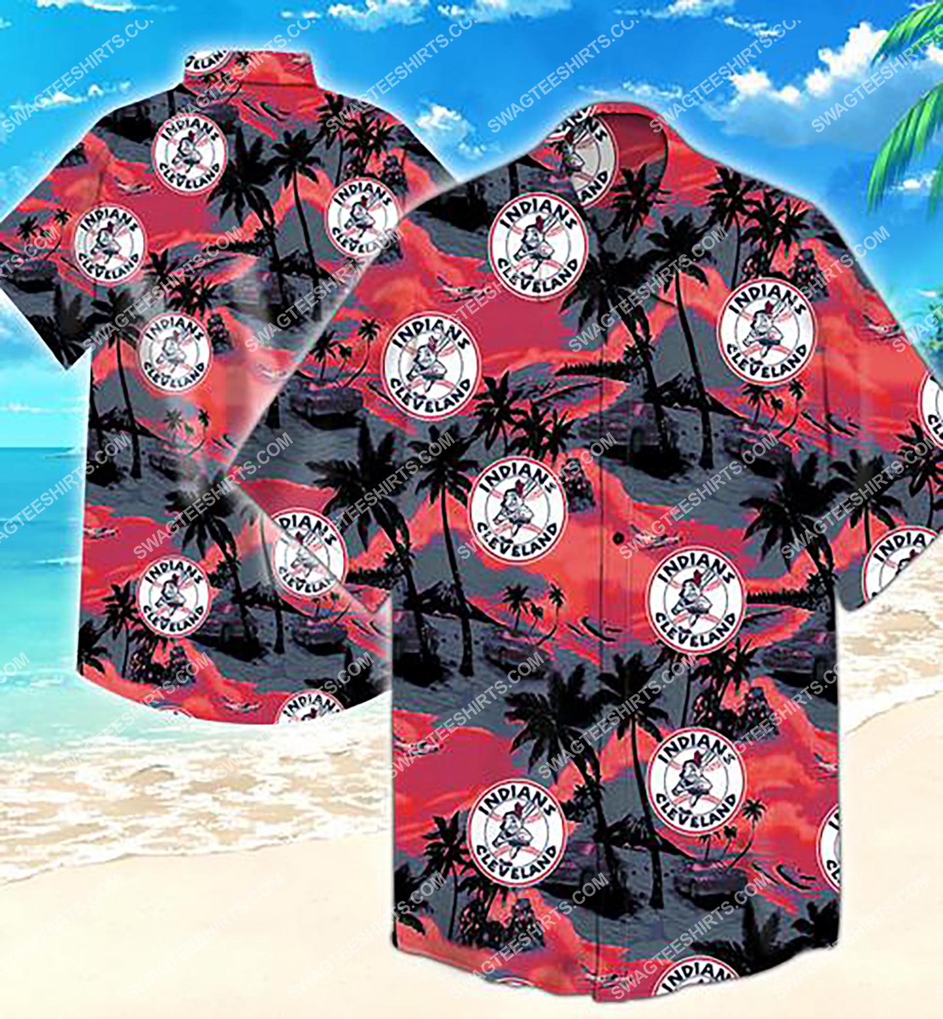 major league baseball cleveland indians summer hawaiian shirt 2