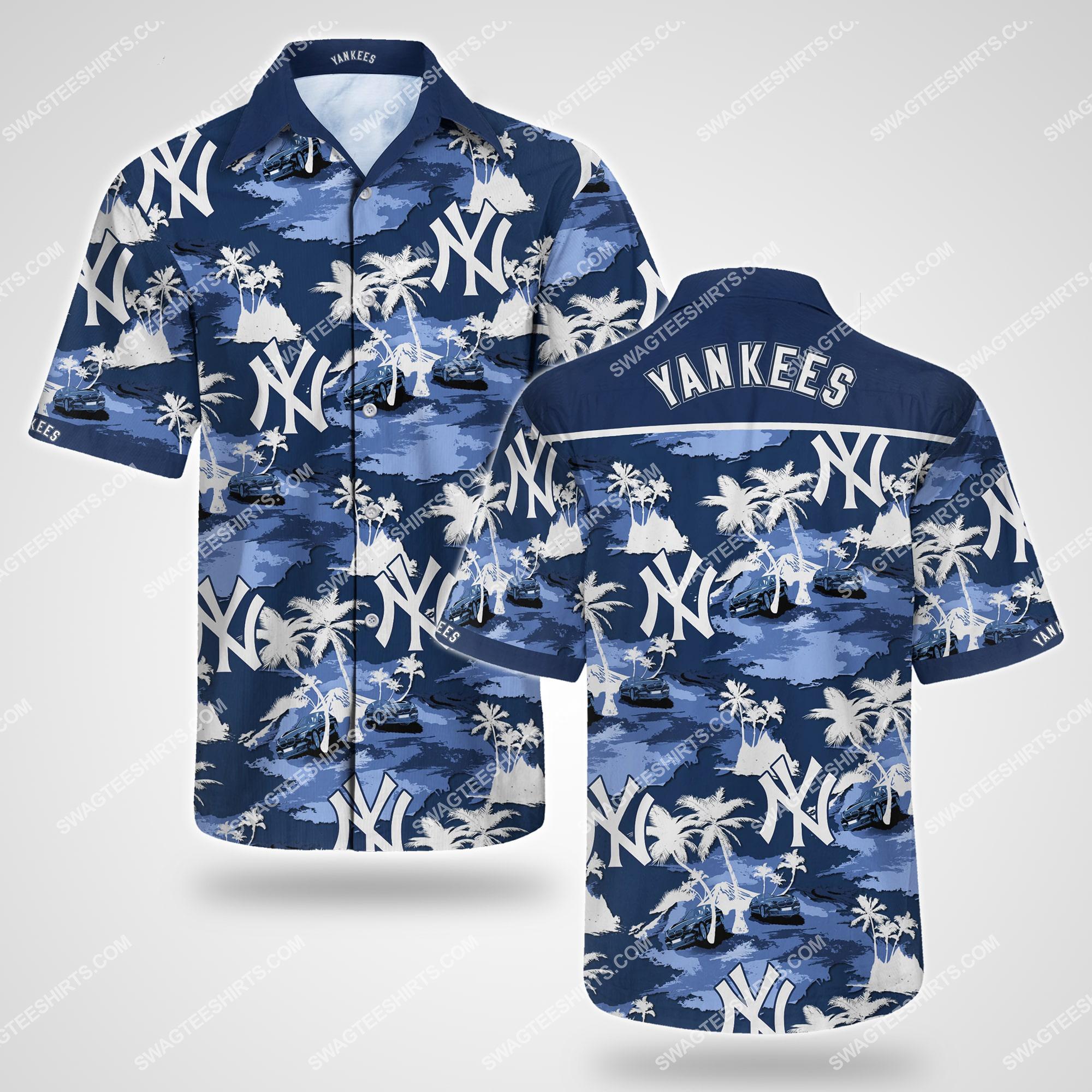 major league baseball new york yankees summer hawaiian shirt 2 - Copy