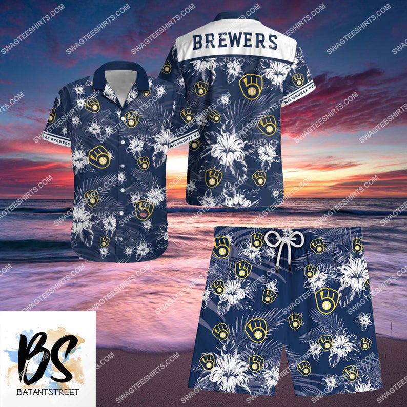 milwaukee brewers major league baseball full printing shorts 1