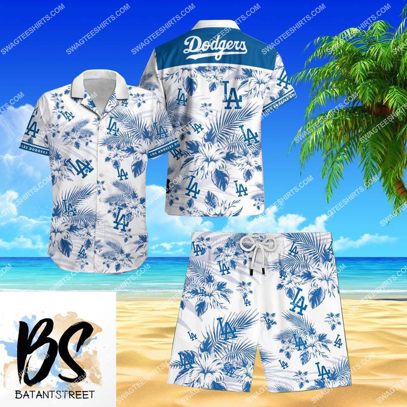 mlb los angeles dodgers full printing beach shorts 1 - Copy