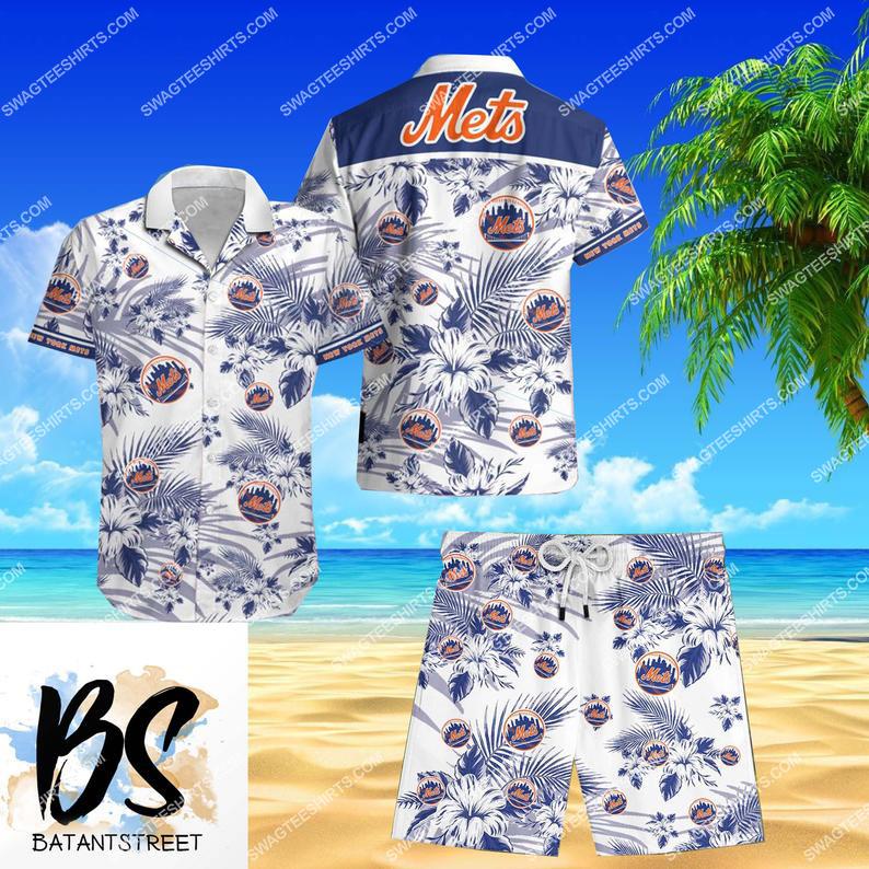 mlb new york mets full printing shorts 1