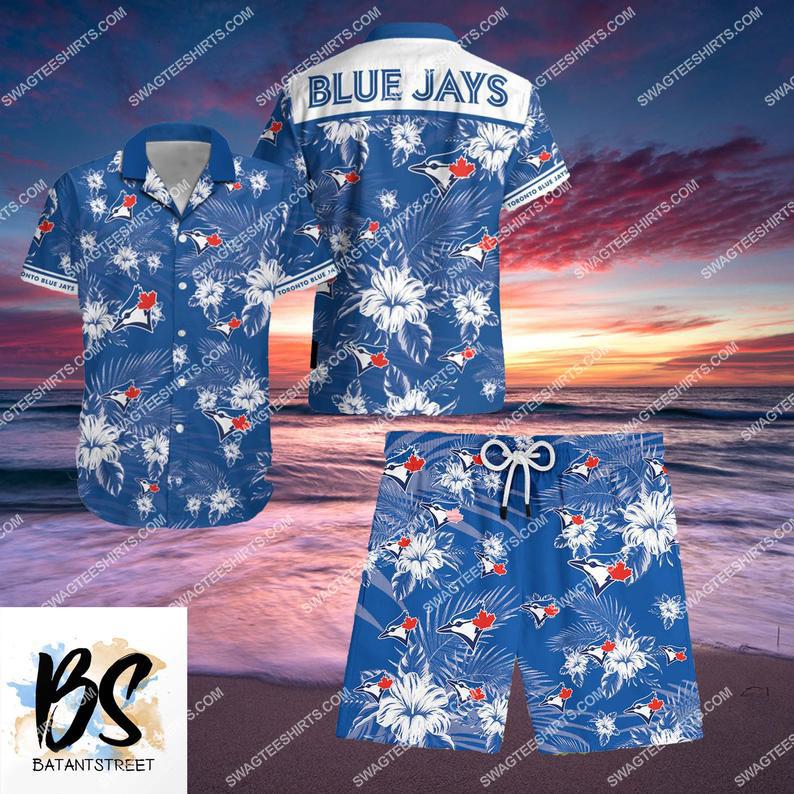 mlb toronto blue jays full printing shorts 1