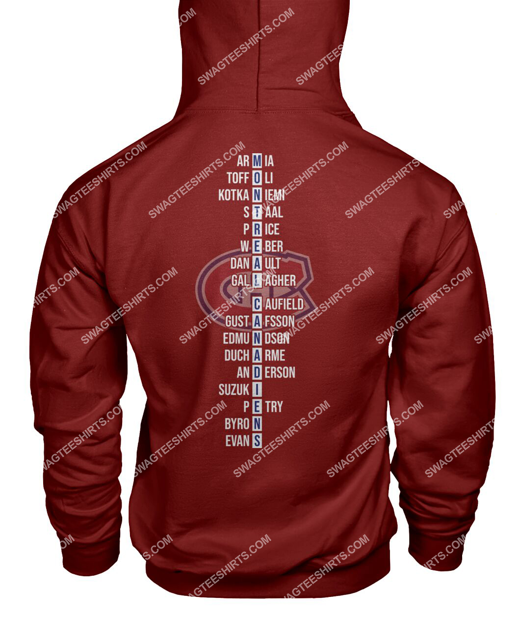 montreal canadiens 2021 north division champions hoodie - back 1