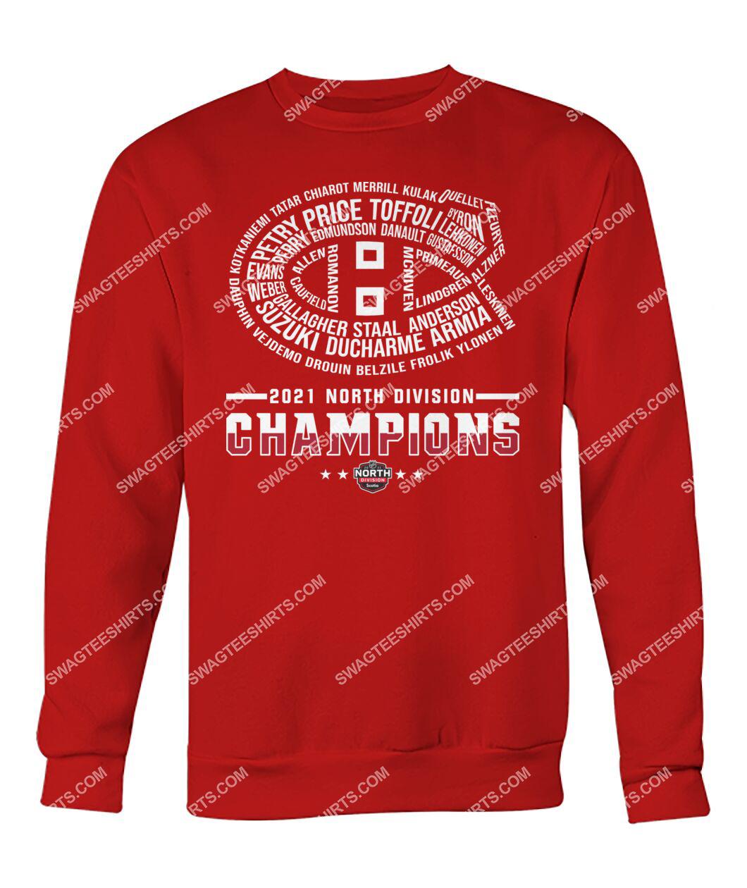 montreal canadiens 2021 north division champions sweatshirt 1