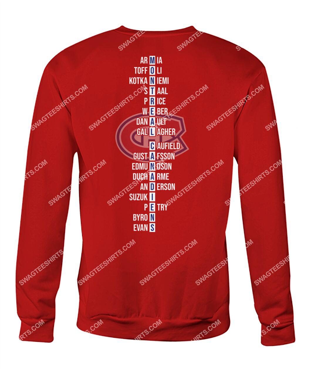 montreal canadiens 2021 north division champions sweatshirt - back 1