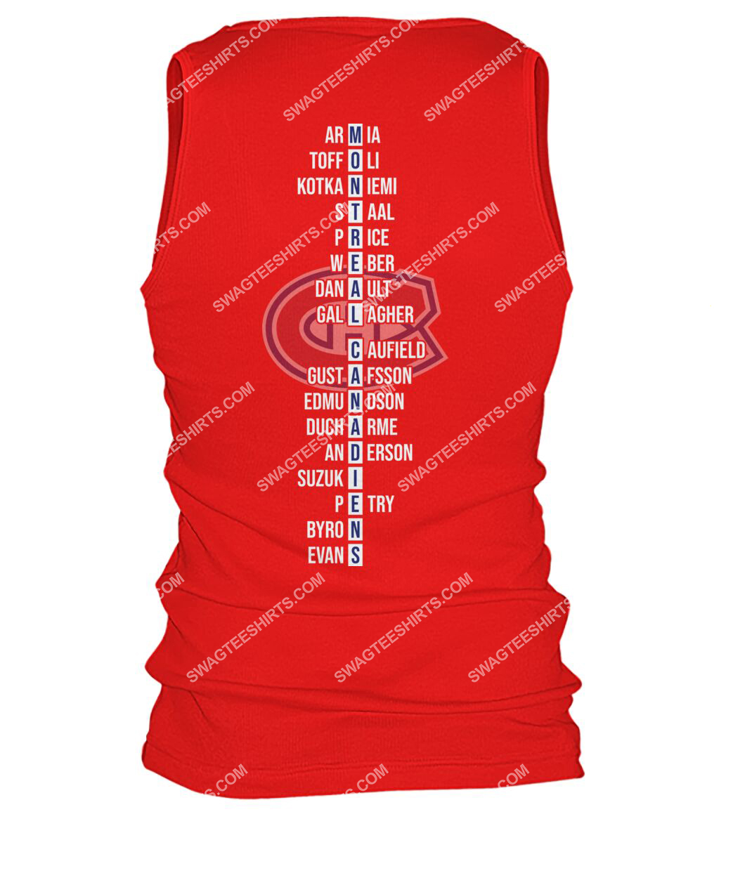 montreal canadiens 2021 north division champions tank top - back 1