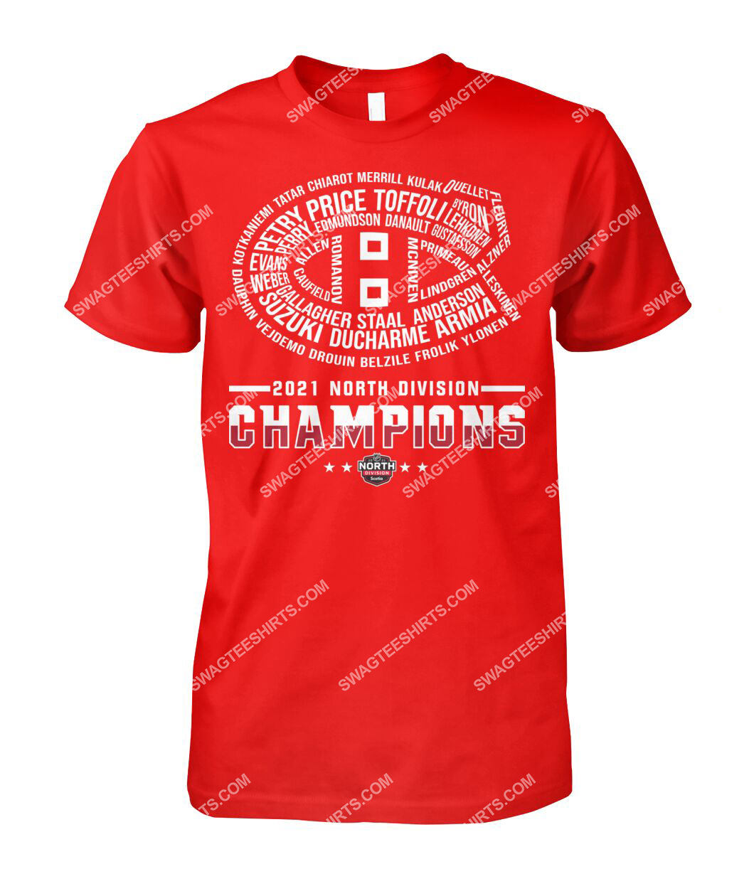 montreal canadiens 2021 north division champions tshirt 1