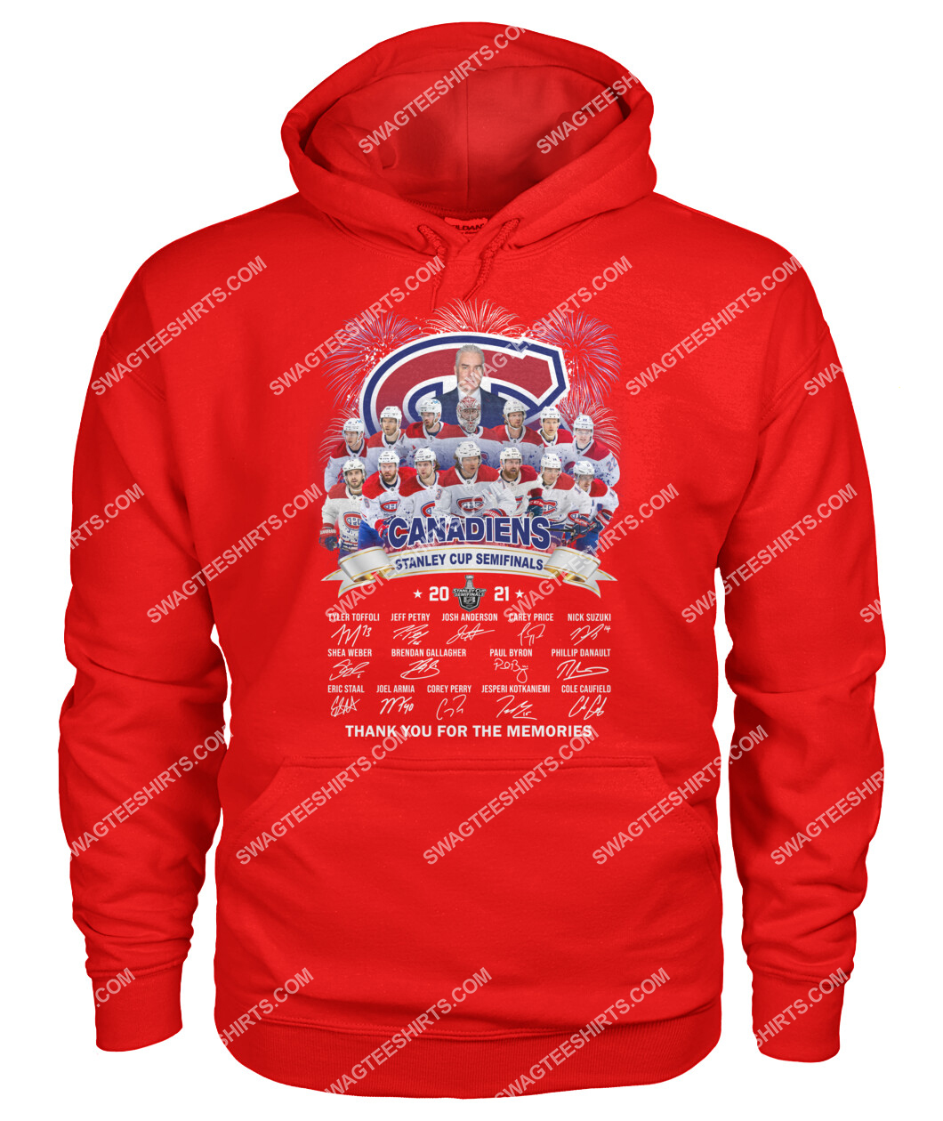 montreal canadiens stanley cup semifinals 2021 thank you for the memories signature hoodie 1