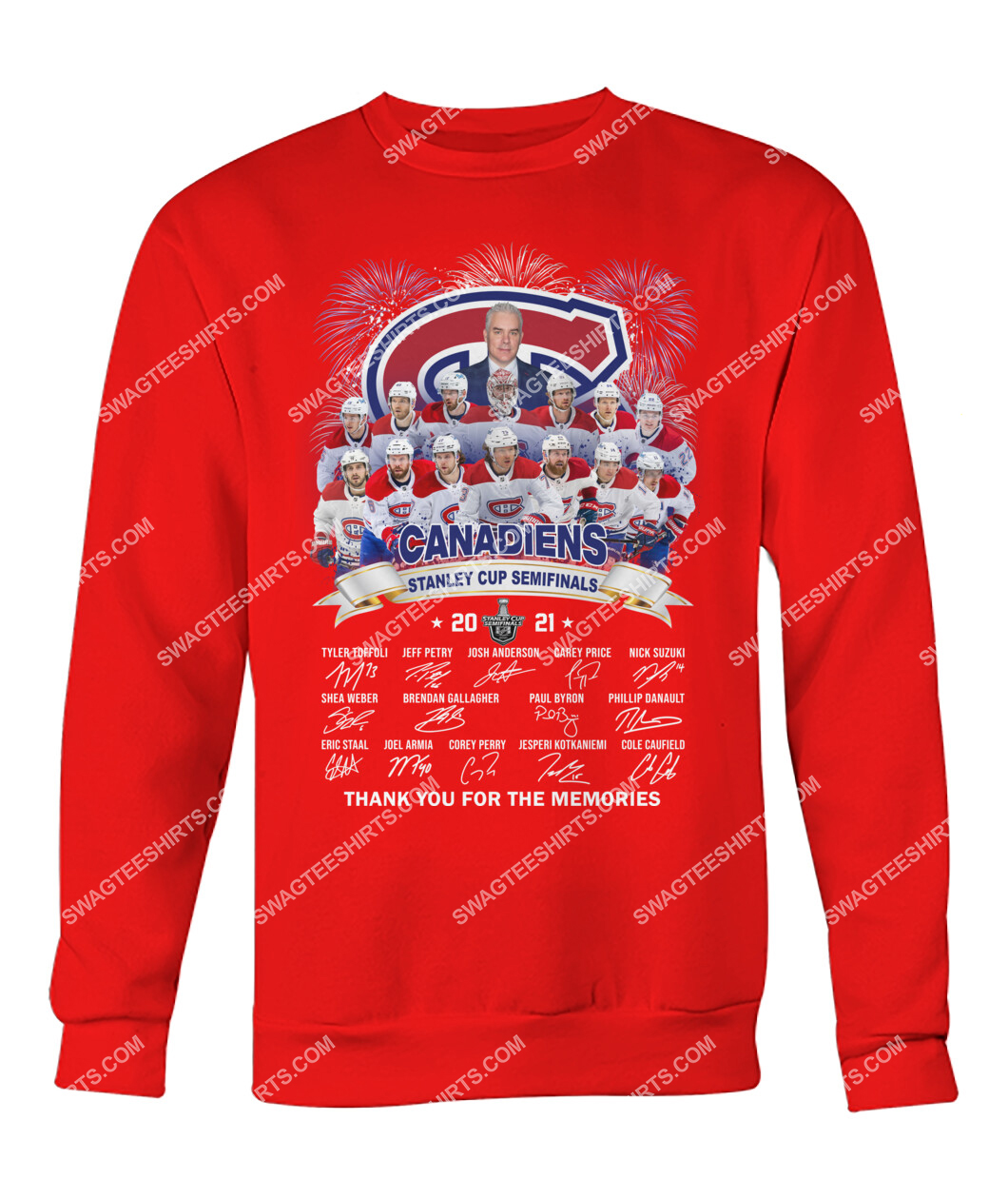 montreal canadiens stanley cup semifinals 2021 thank you for the memories signature sweatshirt 1