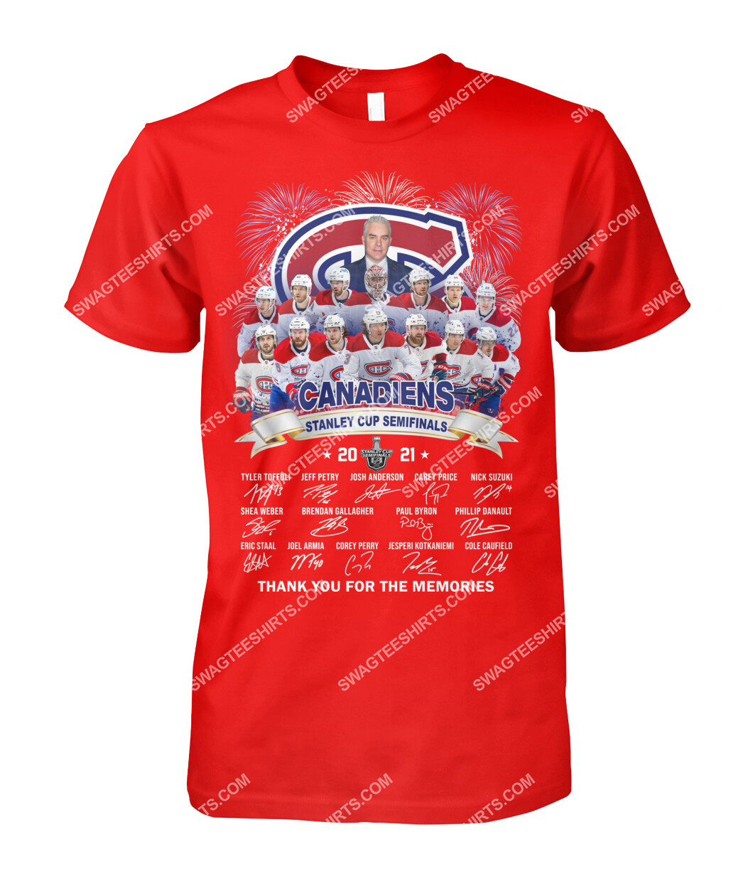 montreal canadiens stanley cup semifinals 2021 thank you for the memories signature tshirt 1