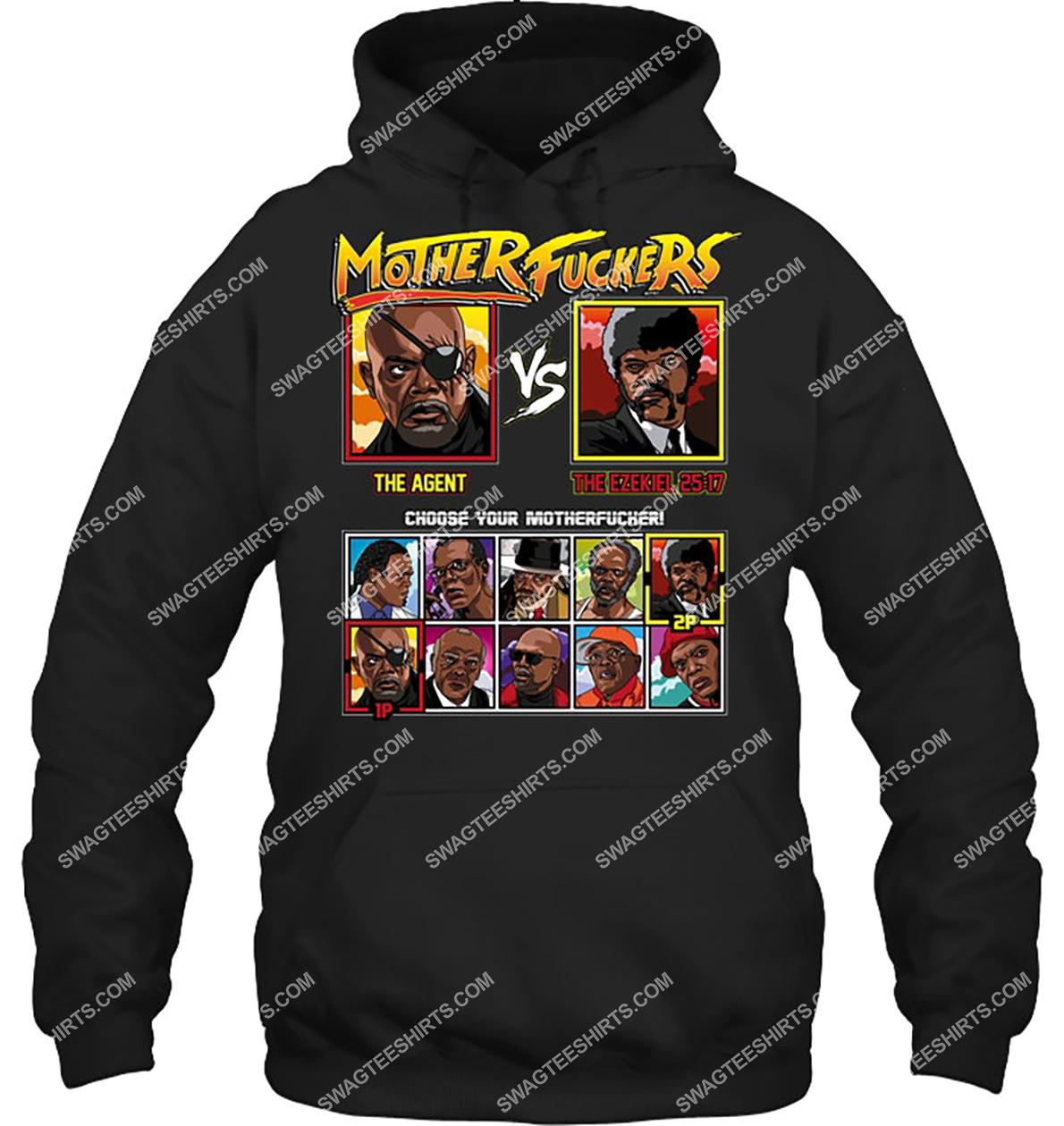 mother fuckers the agent vs the ezekiel choose your motherfucker hoodie 1