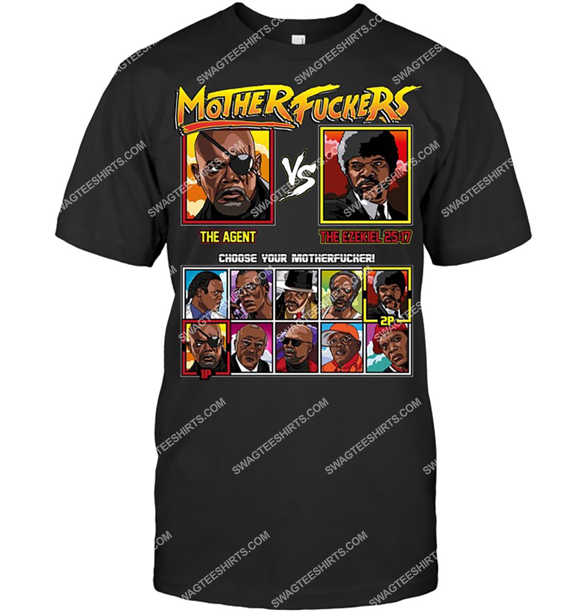 mother fuckers the agent vs the ezekiel choose your motherfucker tshirt 1