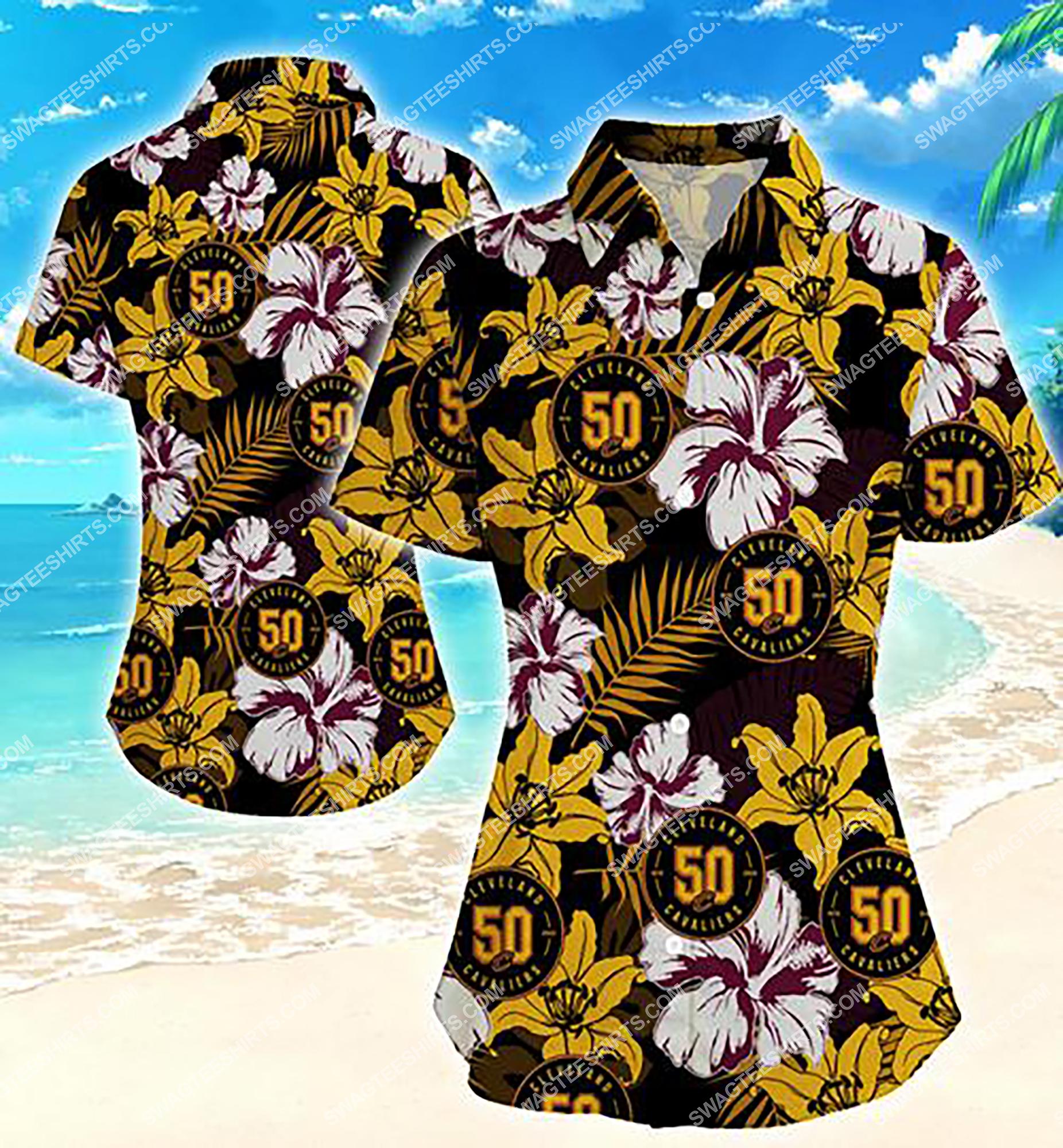 national basketball association cleveland cavaliers team hawaiian shirt 2