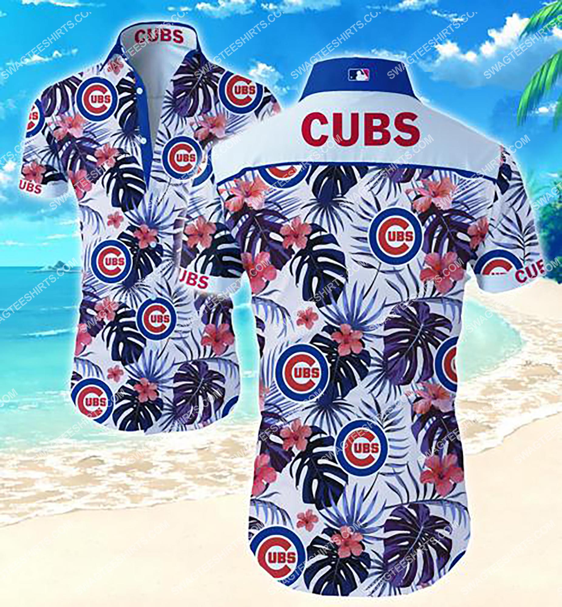 national football league chicago cubs team hawaiian shirt 2