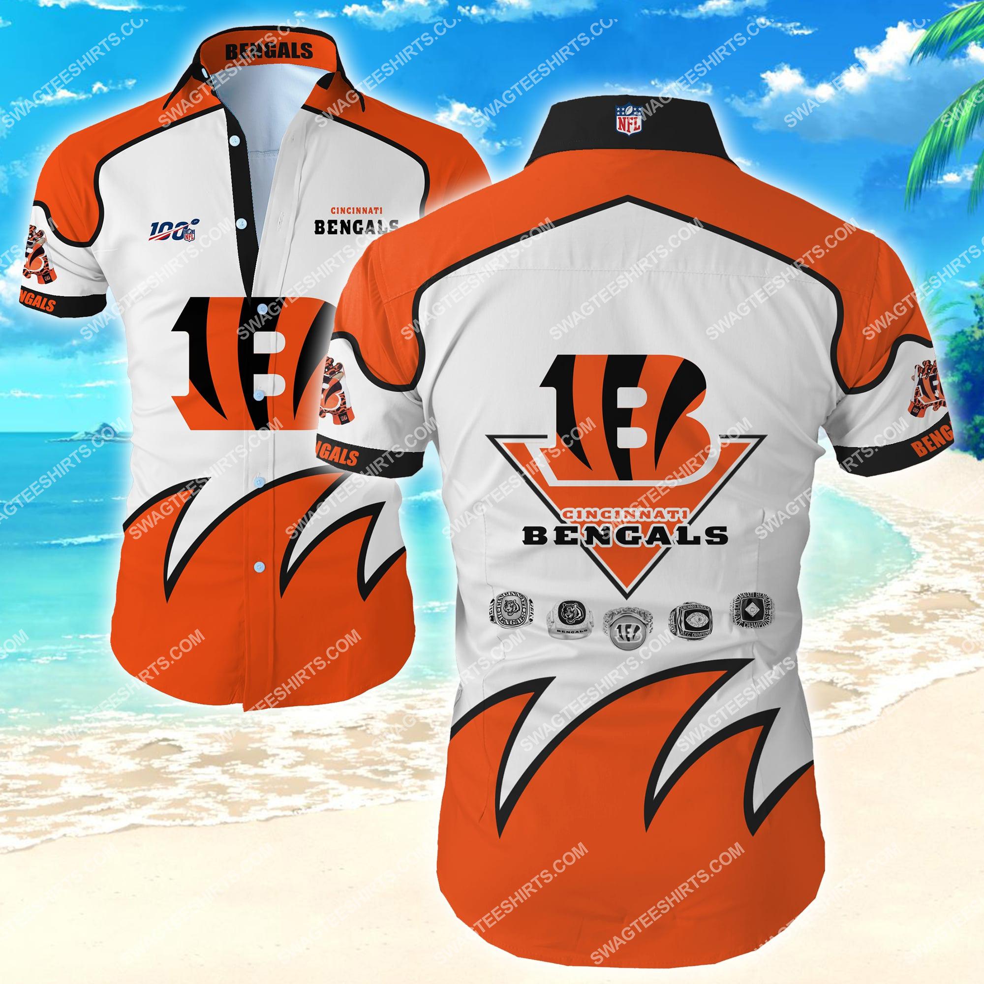 national football league cincinnati bengals team hawaiian shirt 2