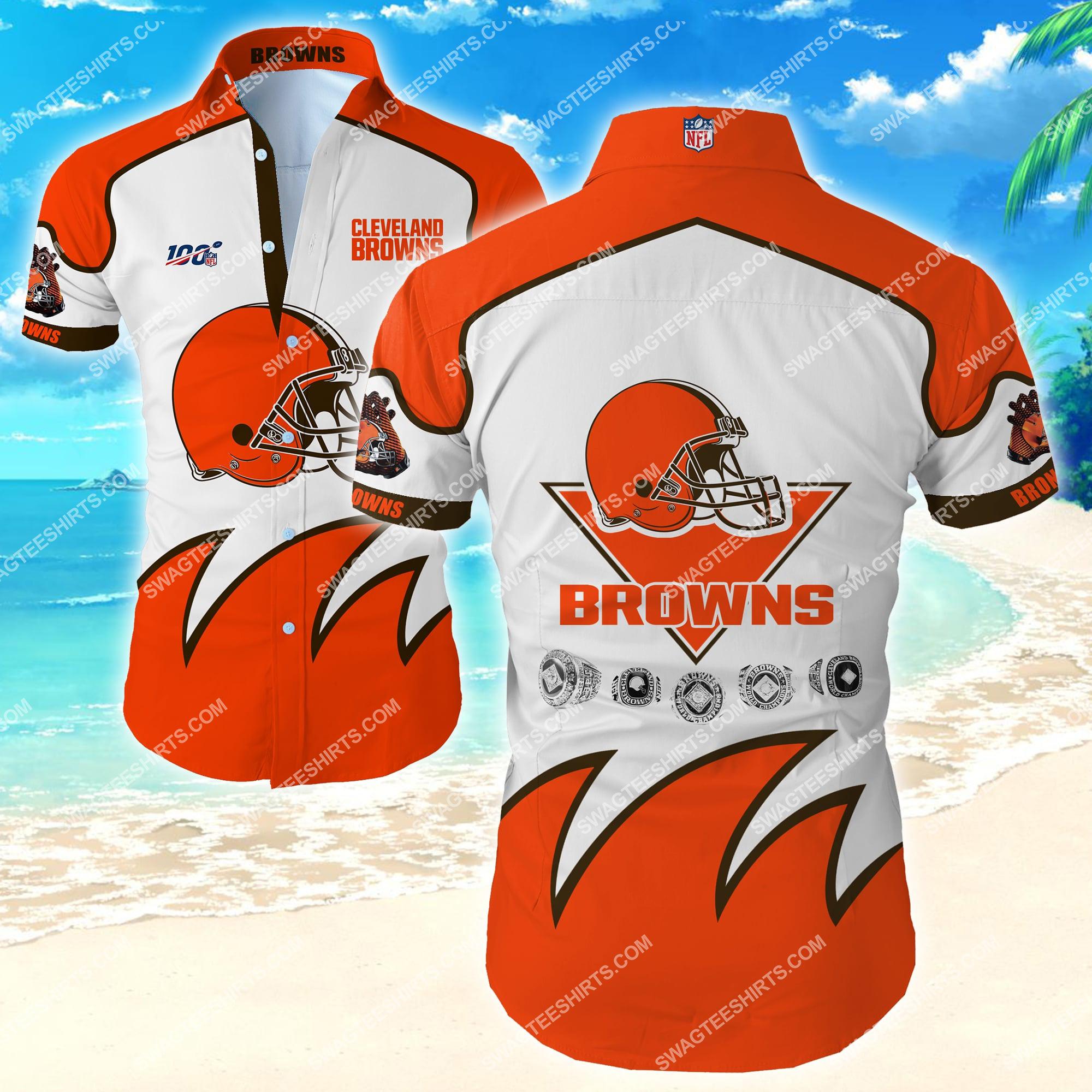 national football league cleveland browns team hawaiian shirt 2