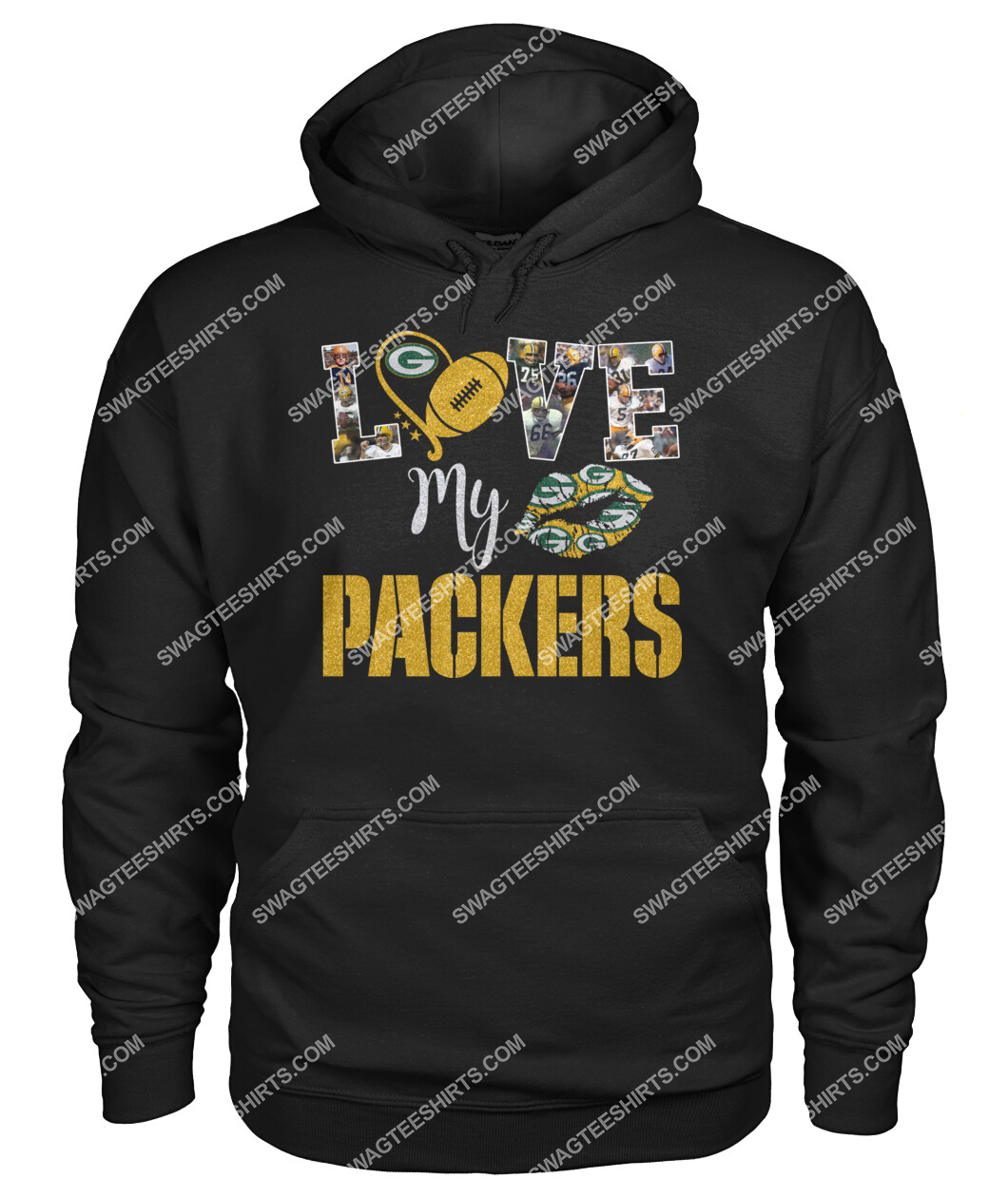 national football league green bay packers i love my packers hoodie 1