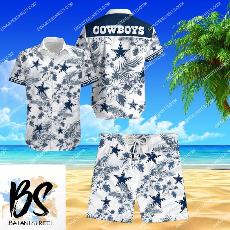 nfl dallas cowboys full printing shorts 1