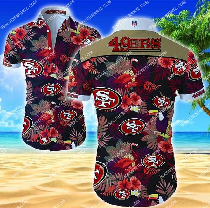 nfl san francisco 49ers all over print hawaiian shirt 1