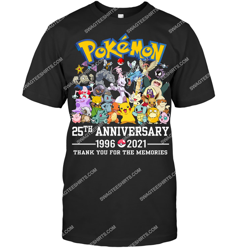 pokemon 25th anniversary 1996-2021 thank you for the memories shirt 4(1)