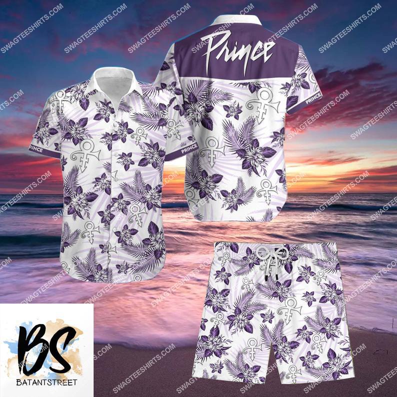 prince music lover full printing hawaiian shorts 1