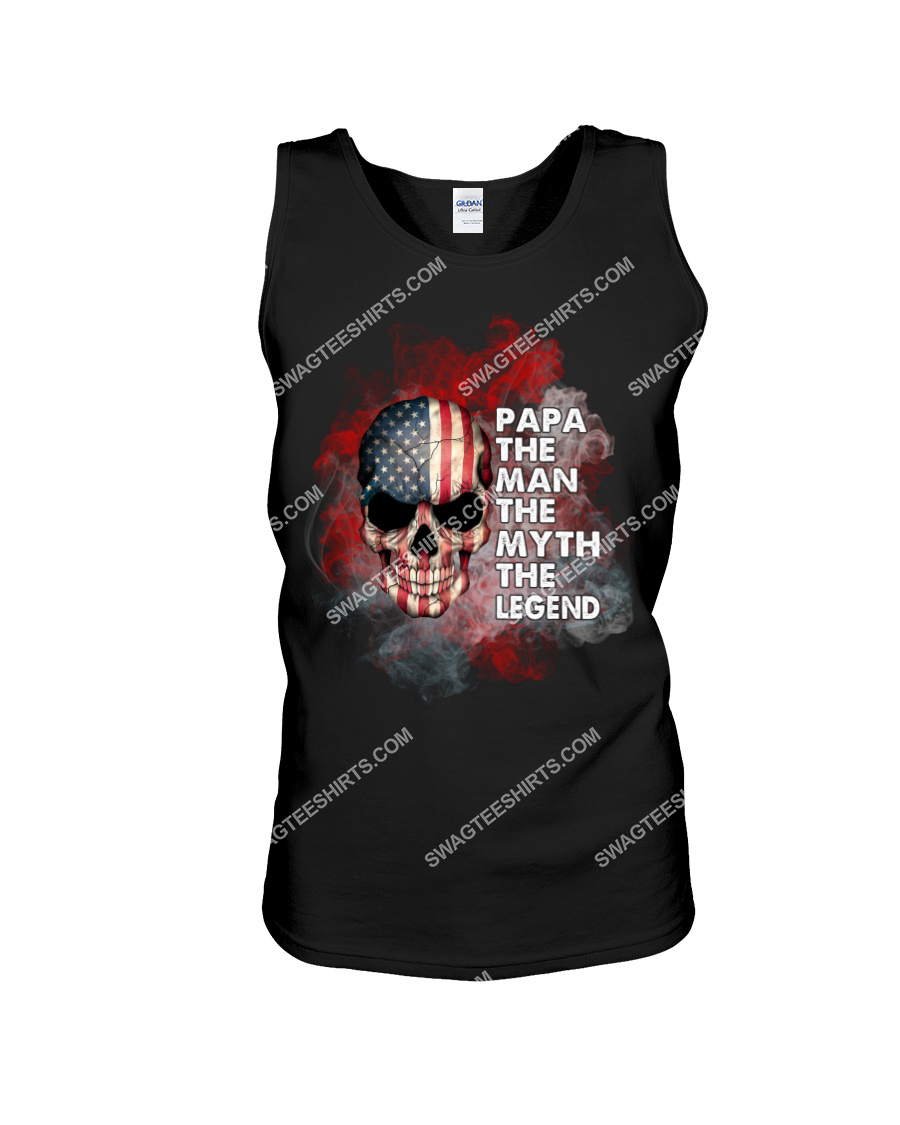 skull papa the man the myth the legend fathers day tank top 1