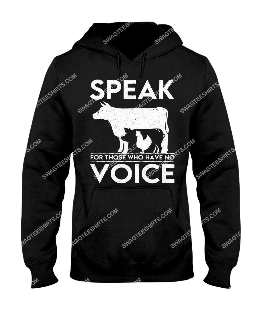 speak for those who have no voice save animals hoodie 1