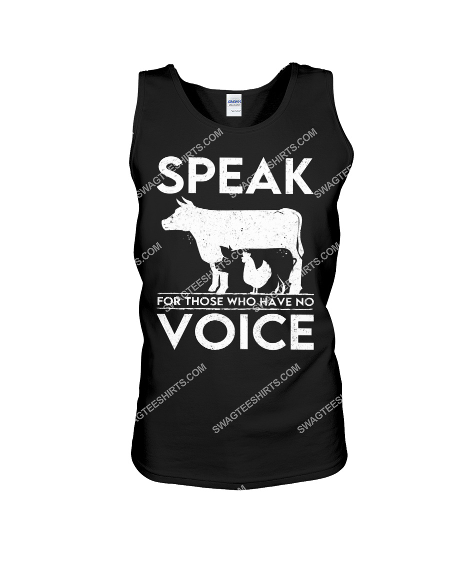 speak for those who have no voice save animals tank top 1