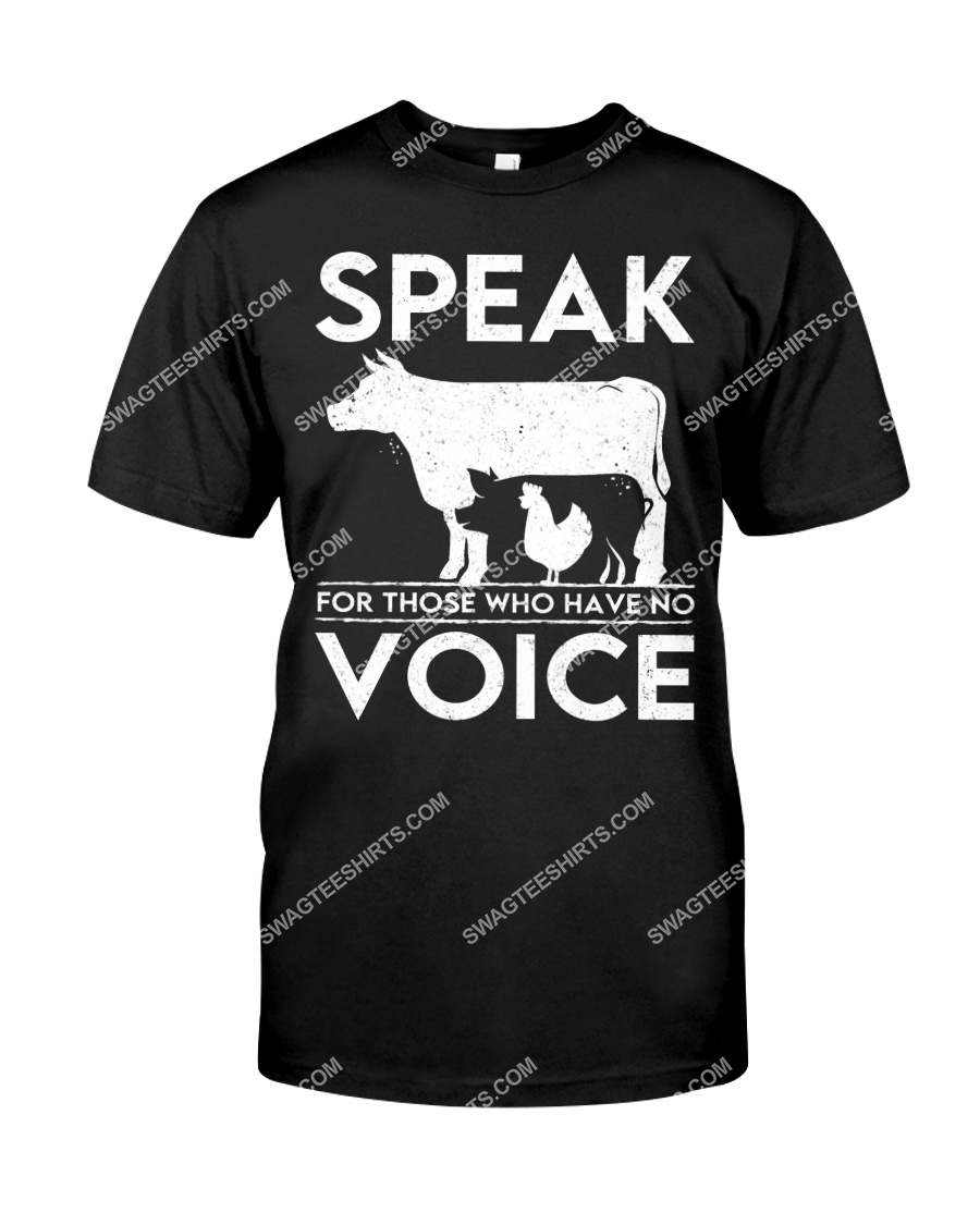 speak for those who have no voice save animals tshirt 1