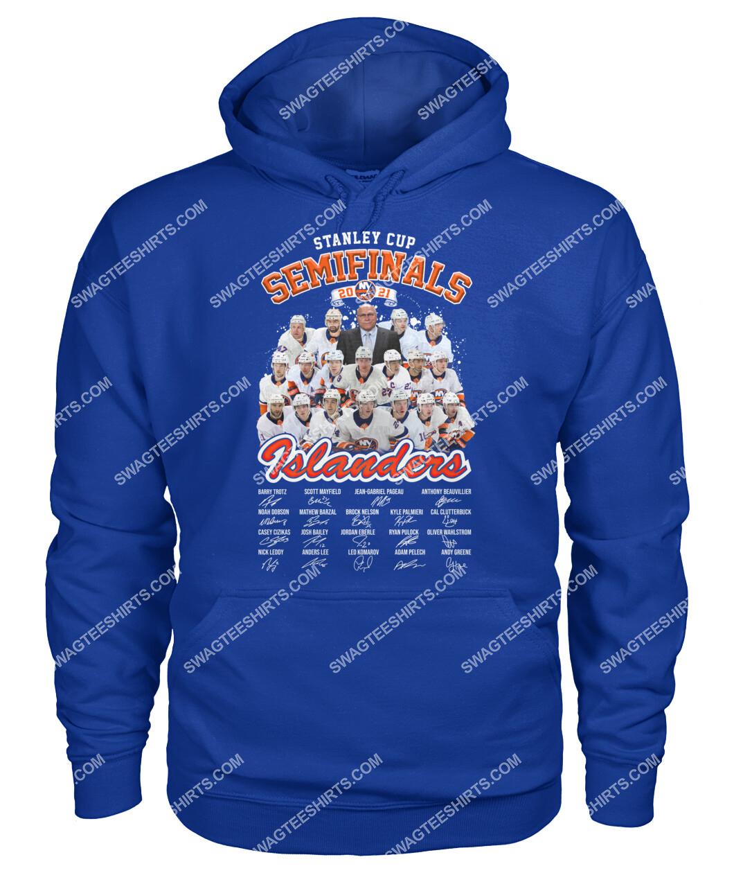 stanley cup semi finals 2021 new york islanders signatures hoodie 1