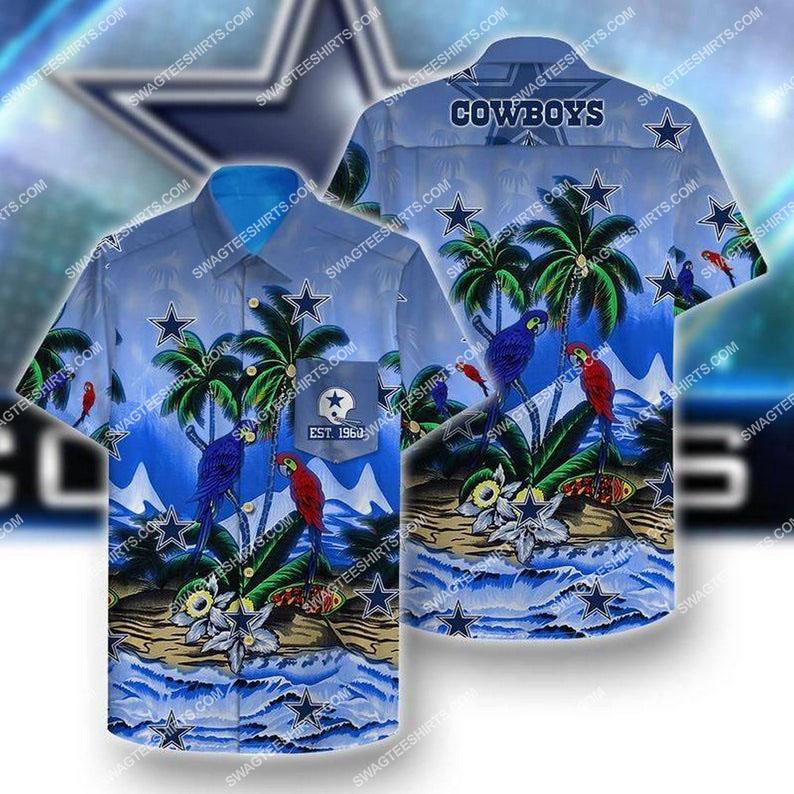 summer vacation dallas cowboys full printing hawaiian shirt 1