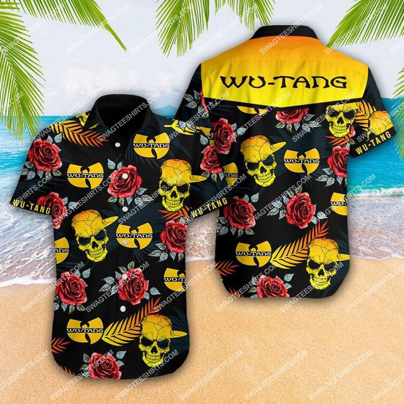 summer vacation wu-tang-clan full printing hawaiian shirt 1