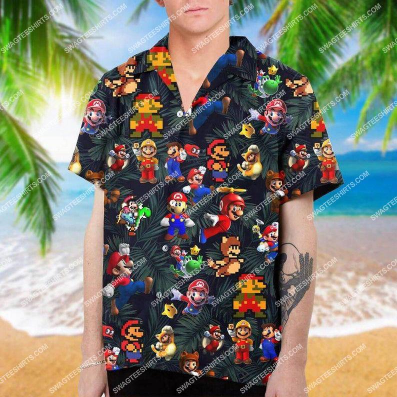 super mario nin-tendo full printing hawaiian shirt 1 - Copy