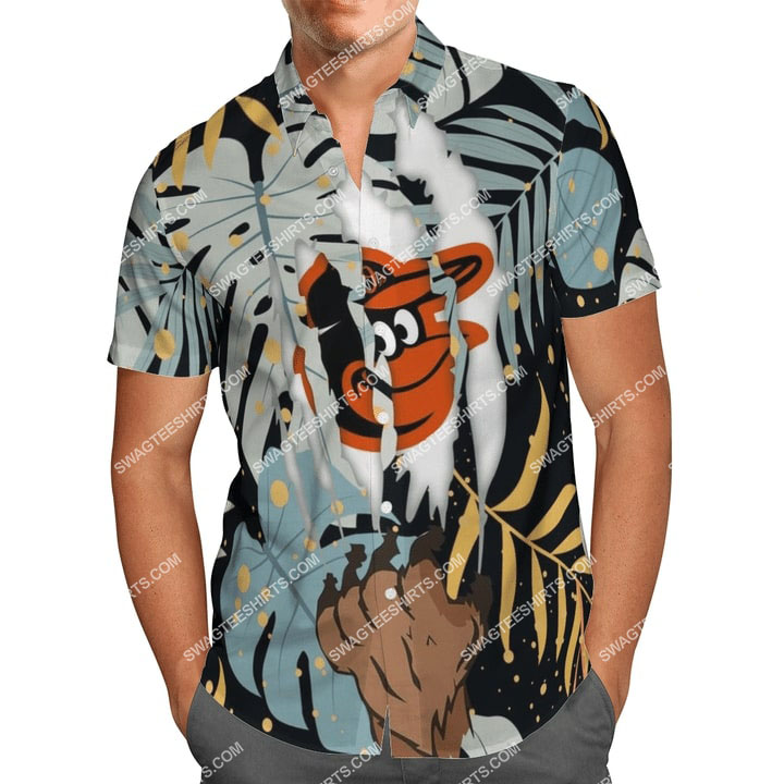 the baltimore orioles baseball full printing summer hawaiian shirt 2(1)