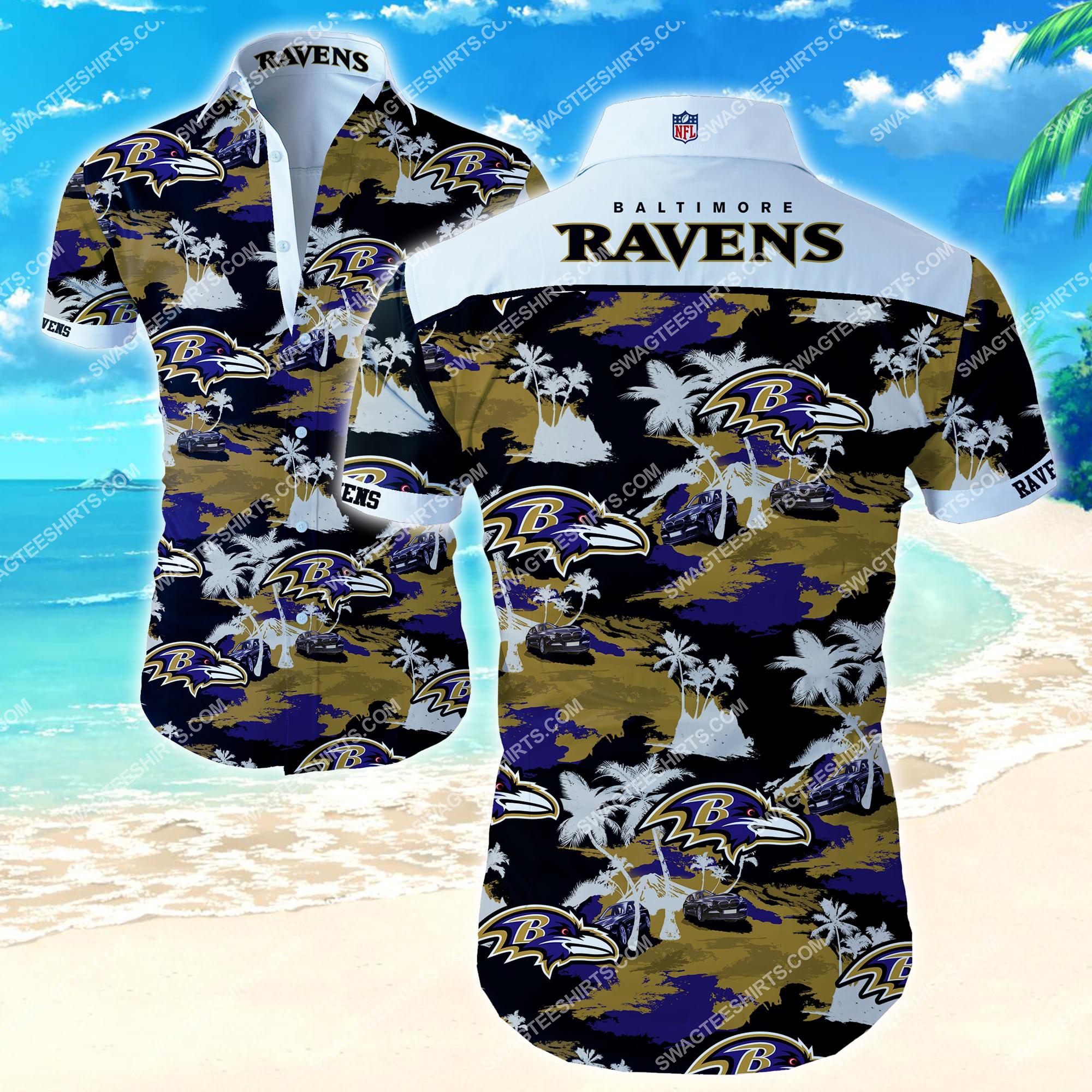 the baltimore ravens football team full printing summer hawaiian shirt 2 - Copy