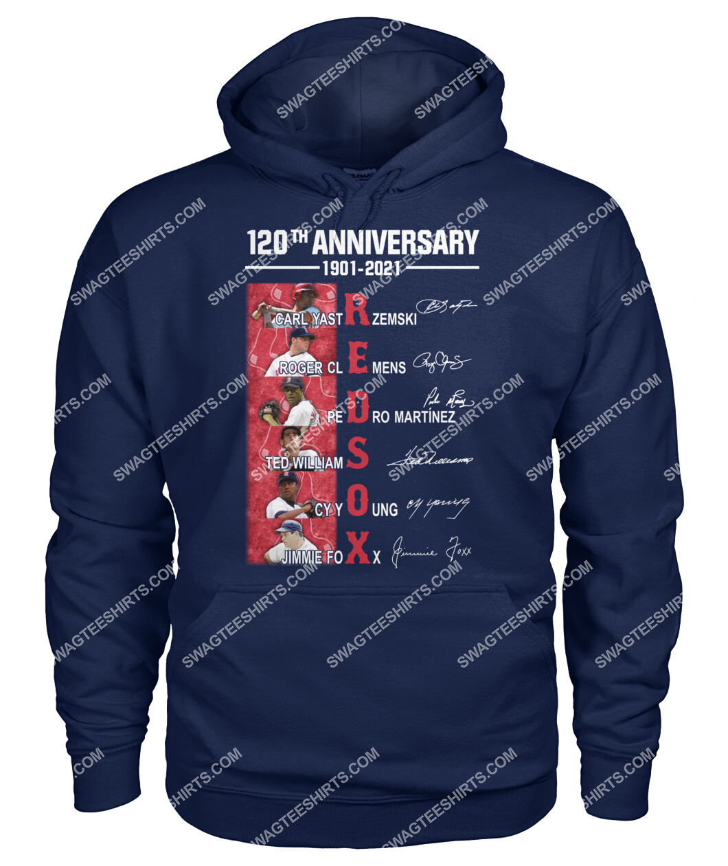 the boston red sox 120th anniversary 1901 2021 signatures mlb hoodie 1