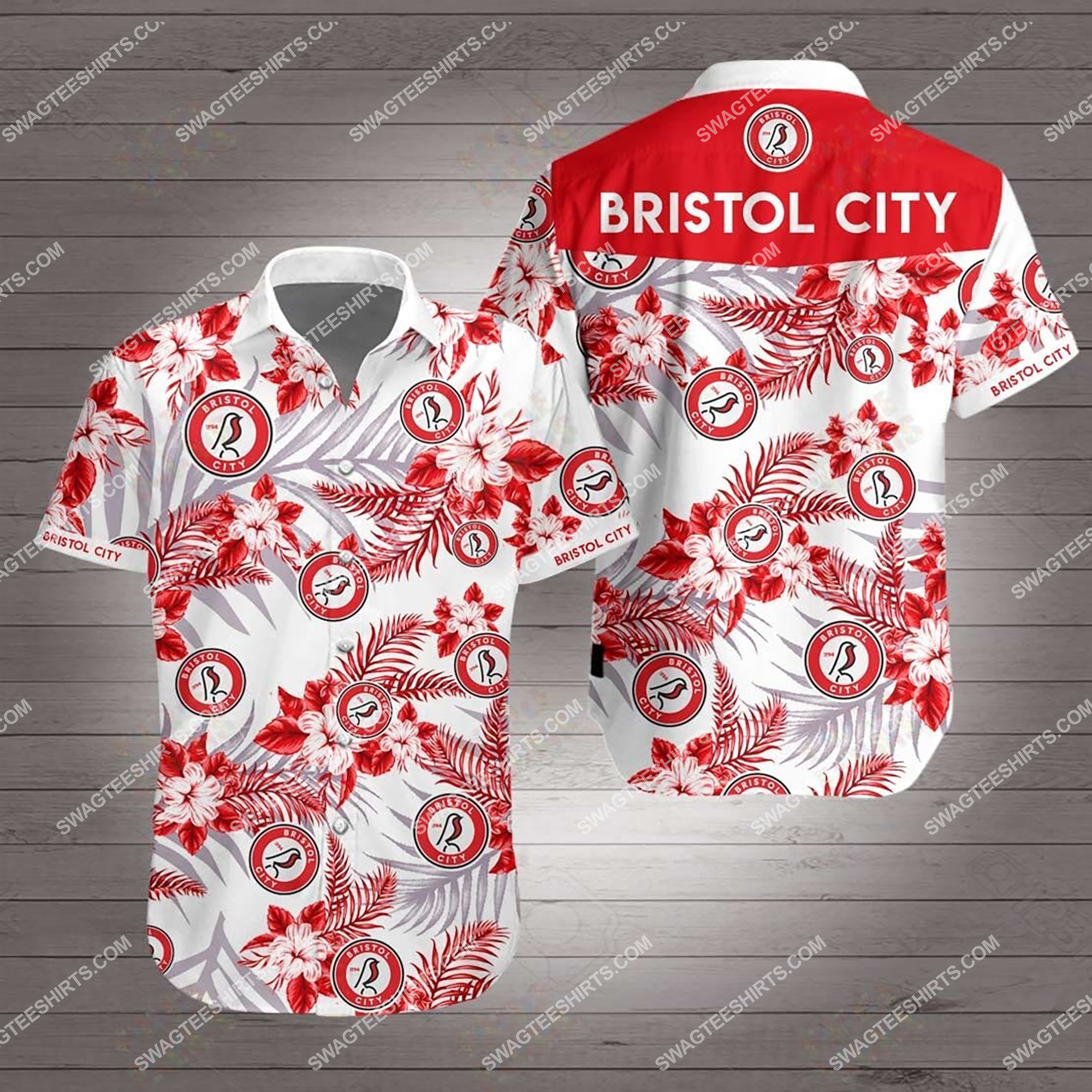the bristol city fc full printing summer hawaiian shirt 2