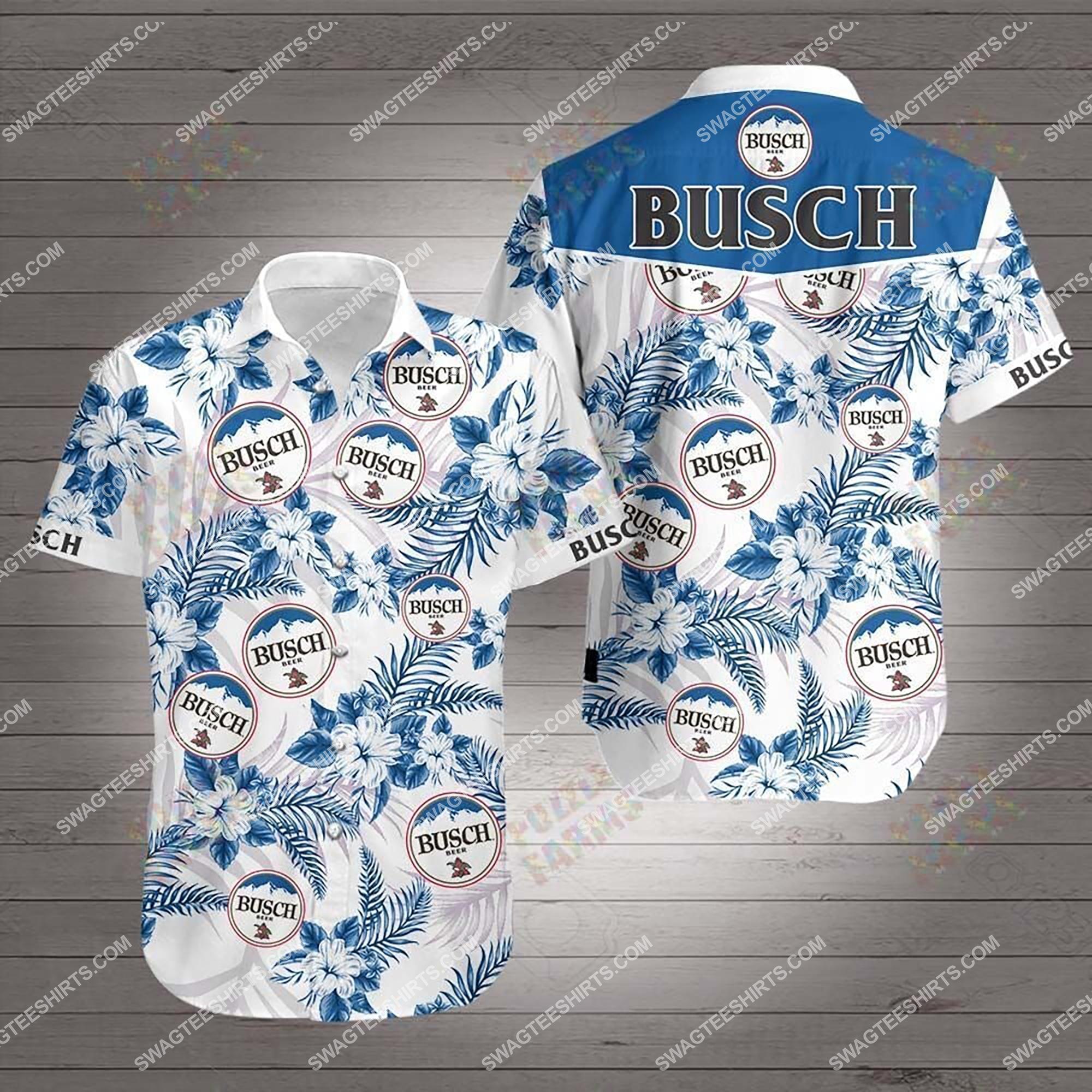 the busch beer summer hawaiian shirt 2