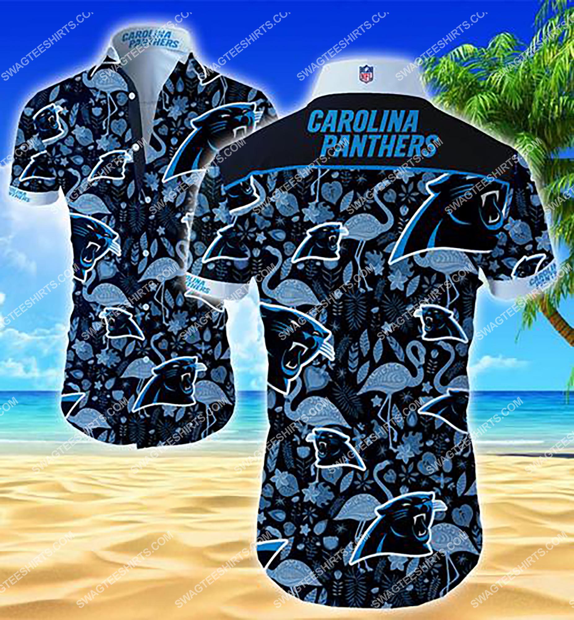 the carolina panthers football team summer hawaiian shirt 2